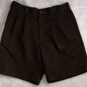 Roundtree & Yorke - Dark Brown Dress Shorts - 34